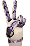 Mains de robot Images stock
