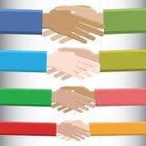 Mains de salutation Image libre de droits