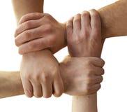 Mains de solidarité Photos stock