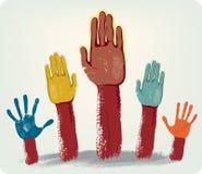 Mains de vote Images libres de droits