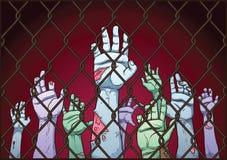 Mains de zombi illustration libre de droits