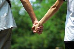 Mains des amoureux Photo libre de droits