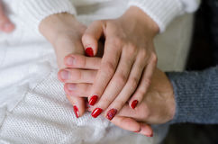 Mains des amoureux Image stock