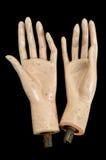 Mains divisées Images libres de droits
