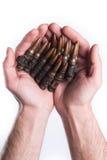 Mains donnant des balles Photographie stock