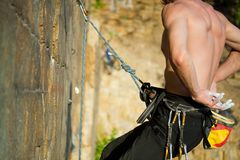 Mains du grimpeur Image libre de droits