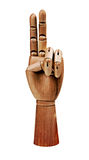 Mains en bois Image libre de droits