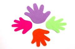 Mains en cercle Photos libres de droits