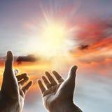 Mains en ciel Photo libre de droits