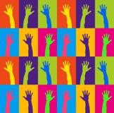 Mains en hausse Image libre de droits