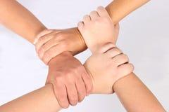 Mains enclenchées Photo libre de droits