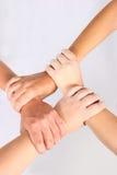 Mains enclenchées Image libre de droits