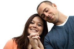 Mains engagées de fixation de couples Images stock