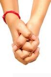 mains ensemble Photographie stock