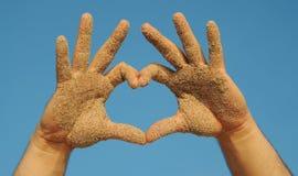 Mains et ciel Image libre de droits