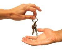 Mains et clés Photo stock