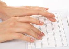 Mains et clavier Photographie stock