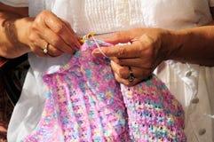 Mains et crochet Image libre de droits