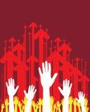 Mains et flèches Image libre de droits