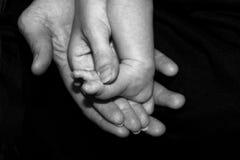 Mains et pied Image libre de droits