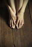 Mains et pieds Photos libres de droits