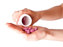 Mains et vitamines Photos libres de droits