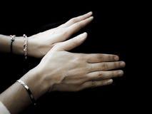 Mains faisant la forme de l'oiseau Image libre de droits