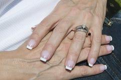 Mains femelles Photo libre de droits