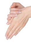 Mains femelles avec la manucure Image libre de droits
