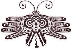 Mains formées par papillon décoratif Photo stock
