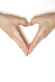 Mains formant le coeur Photographie stock libre de droits