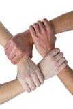 Mains formant une chaîne de main Photos stock