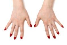 Mains grandes ouvertes de femme Photos libres de droits