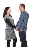 Mains heureuses de fixation de couples Photographie stock libre de droits