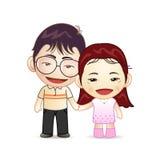 Mains heureuses de fixation de couples Images stock