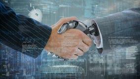 Mains humaines et robotiques banque de vidéos