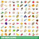 100 mains icons set, isometric 3d style Stock Photography