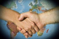 Mains internationales Images libres de droits