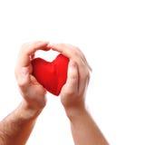 Mains mâles de coeur Images libres de droits