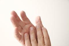 Mains mûres d'homme Images stock
