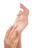 Mains manicured par Français Image libre de droits