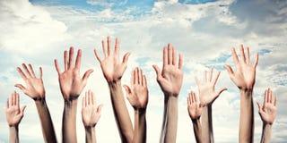 Mains montrant des gestes image stock