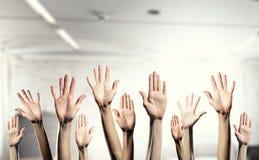 Mains montrant des gestes images libres de droits
