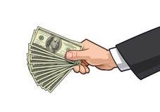 Mains montrant l'argent 3 illustration de vecteur
