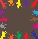 Mains multicolores Photos libres de droits