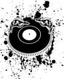 Mains noires et blanches du DJ Photos libres de droits