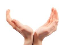 Mains ouvertes Photos libres de droits