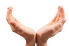 Mains ouvertes Photo libre de droits