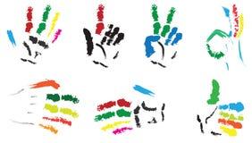 Mains peintes illustration de vecteur