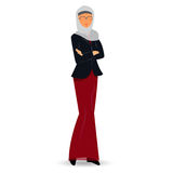 Mains pliées par position musulmane de femme d'affaires Images libres de droits